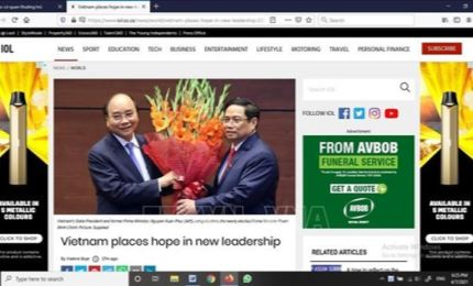South African newspaper: Vietnam places hope in new leadership